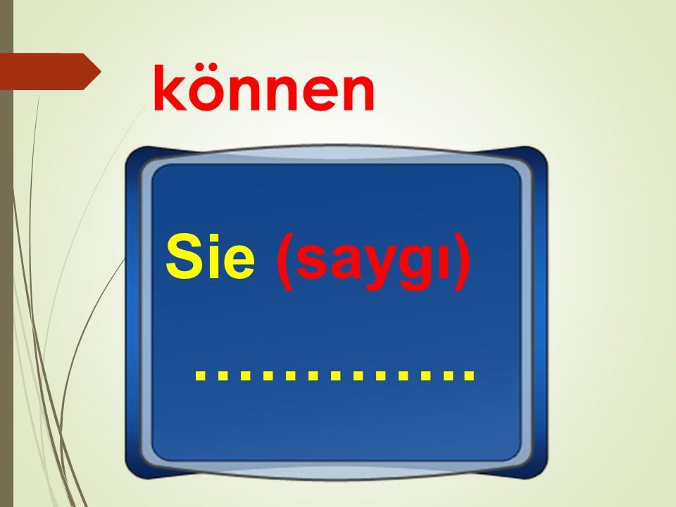 können Sie (saygı) ………….