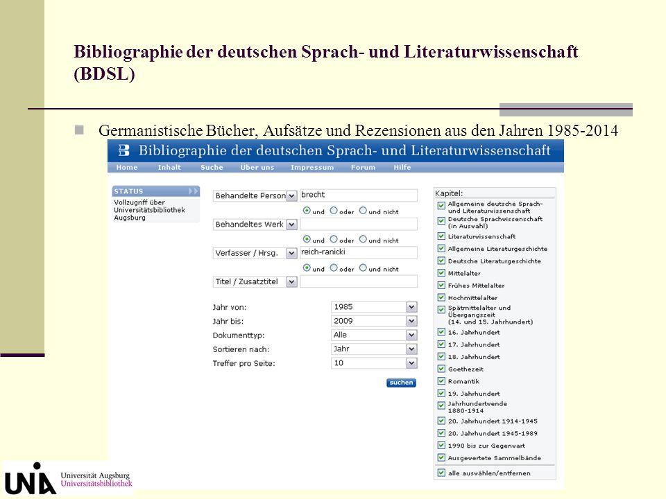 Fenster der SFX-Verfügbarkeitsanzeige Beispiel: Zeitschriftenaufsatz in elektronischer Zeitschrift Link zum Volltext, falls vorhanden Suche im Augsbur