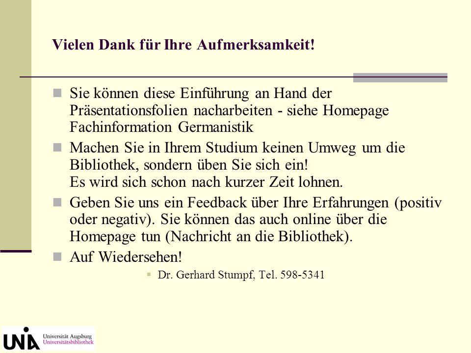 Zugriff auf literarische Volltexte über Fachinformation – Germanistik - Volltexte