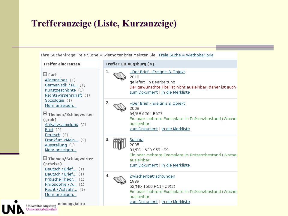 """Ist eine Publikation vorhanden? Unter welcher Signatur? Suche nach Titeln von Publikationen ► oder: ins Feld """"Freie Suche"""" kombinierte Suchwerte einge"""