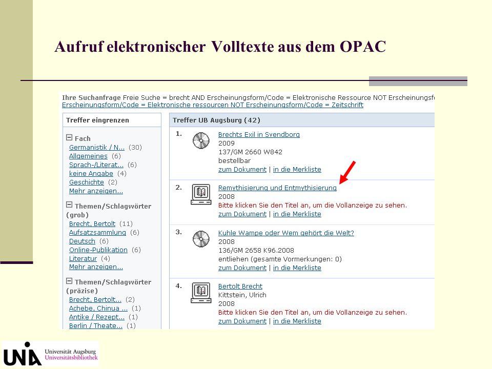 Kataloganreicherung: Anzeige des Inhaltsverzeichnisses Klick auf den Button oben rechts  Anzeige von Inhaltsverzeichnis oder Beschreibung (= Klappent