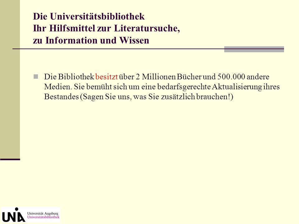 """Homepage der Universitätsbibliothek Benutzungsführer unter dem Menüpunkt """"Die Bibliothek nutzen"""