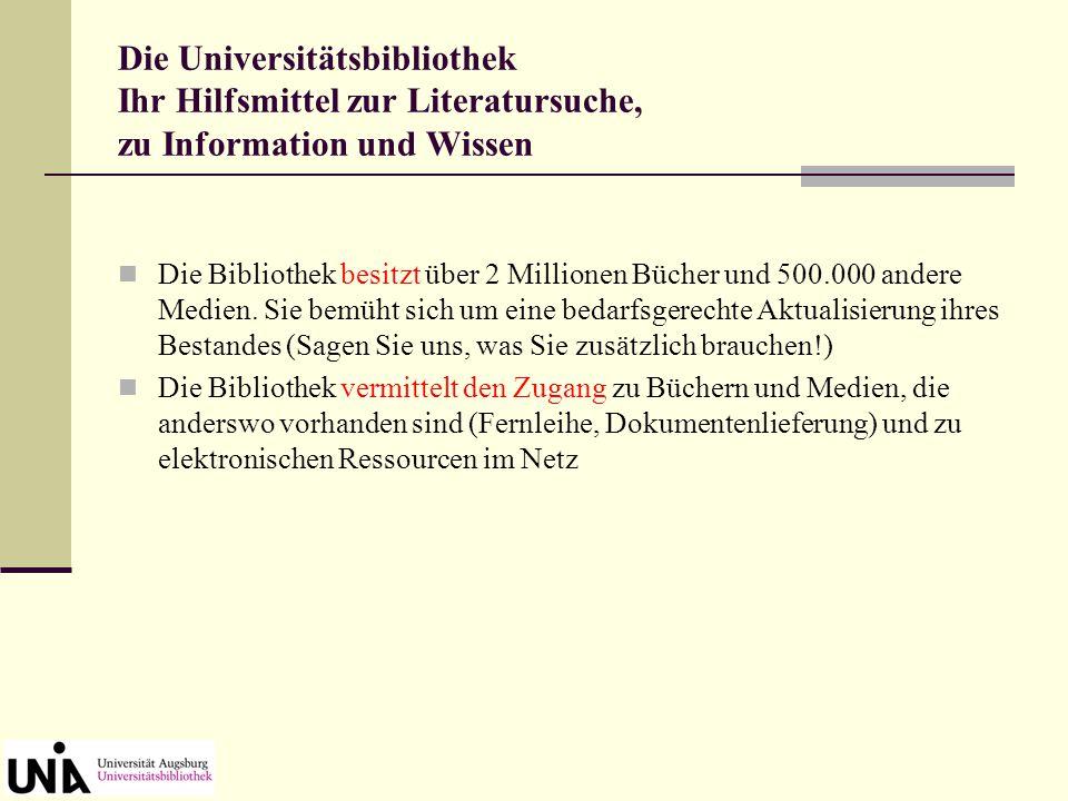 """Homepage der Universitätsbibliothek Germanistik-Seite unter dem Menüpunkt """"Informationen zu einzelnen Fächern"""