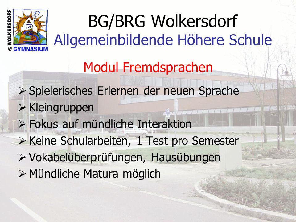 BG/BRG Wolkersdorf Allgemeinbildende Höhere Schule Untersuchung zur AHS in Oberösterreich (Mai/Juni 2005) 30 oberösterreichische AHS 9268 Schüler/innen 7945 Eltern 1843 Absolvent/inn/en