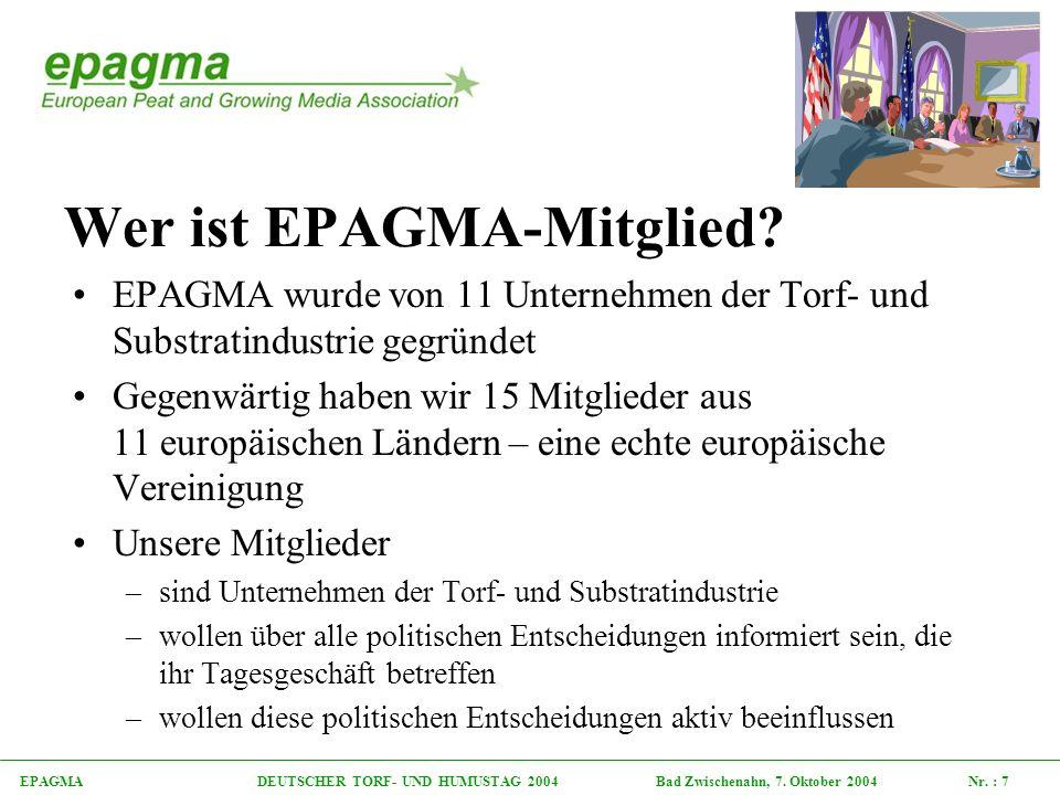 EPAGMA DEUTSCHER TORF- UND HUMUSTAG 2004 Bad Zwischenahn, 7.