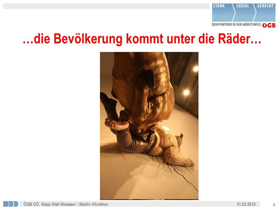 5 31.03.2015ÖGB OÖ, Sepp Wall-Strasser / Martin Windtner Angeblich leben wir in einer Schuldenkrise Aber Wer / was ist Schuld?