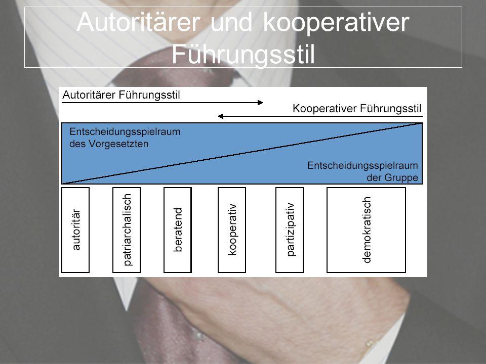 Autoritärer und kooperativer Führungsstil