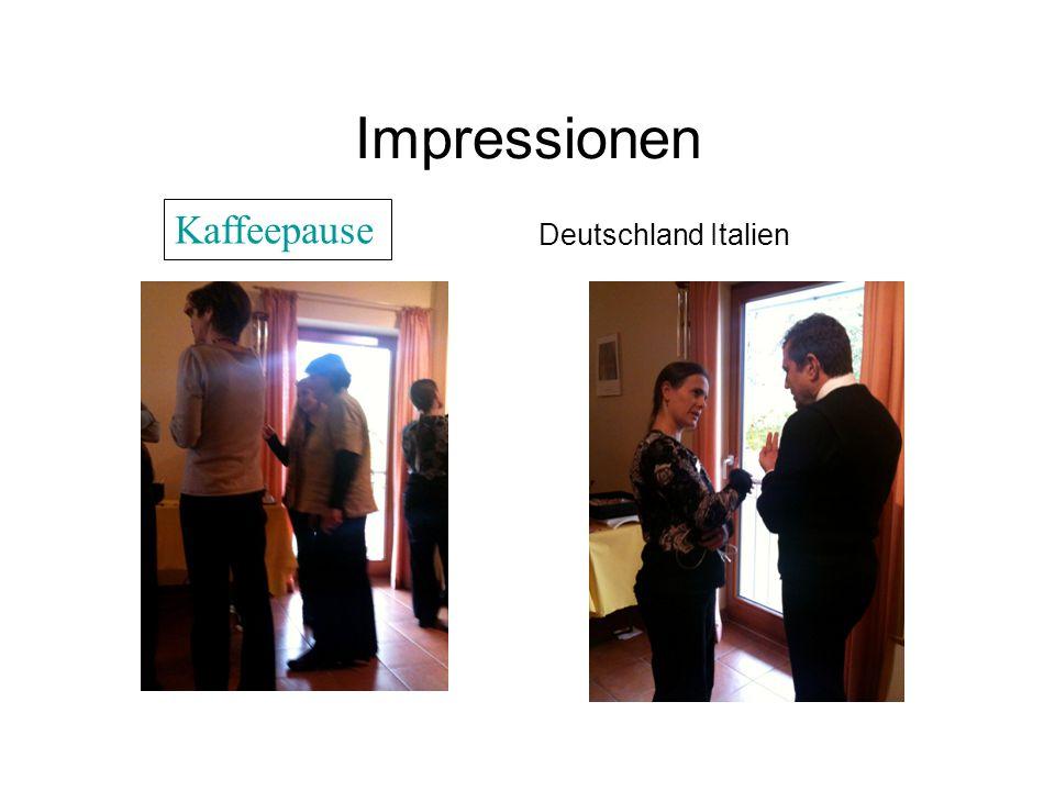 Impressionen Deutschland Italien Kaffeepause