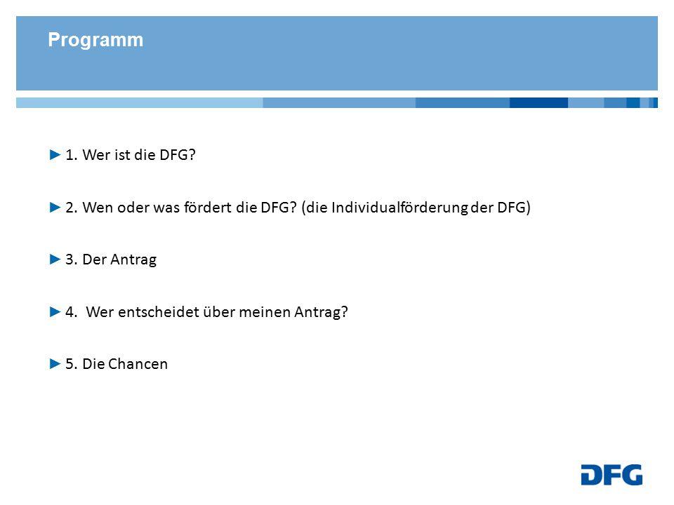 Die DFG im Überblick 1.Wer ist die Deutsche Forschungsgemeinschaft.