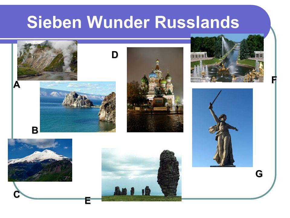 Sieben Wunder Russlands A B C D E F G
