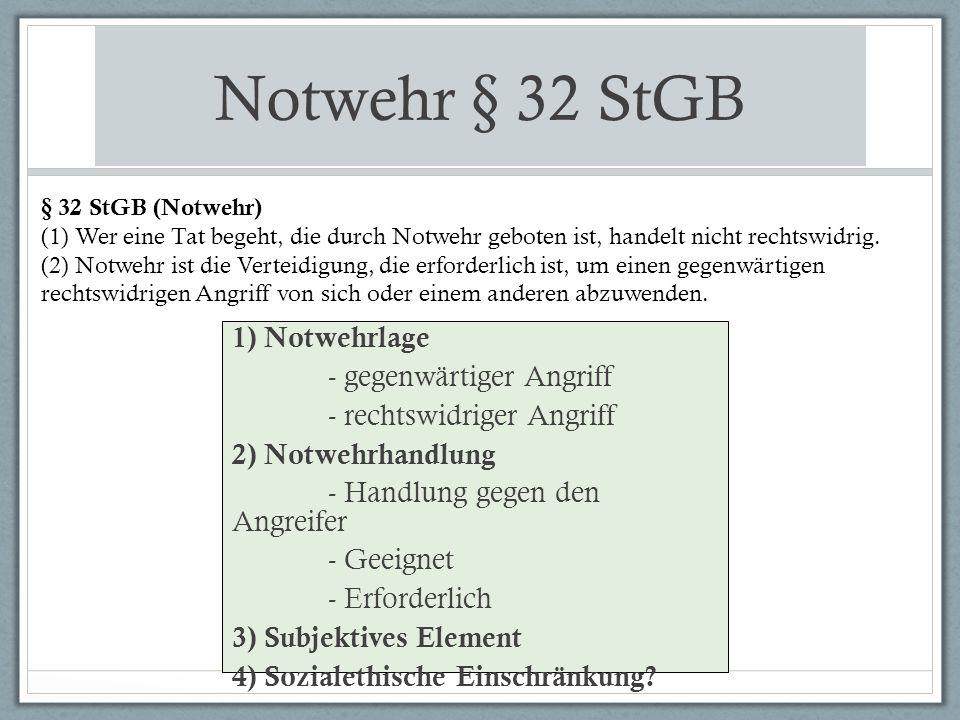 Notwehrhandlung II.