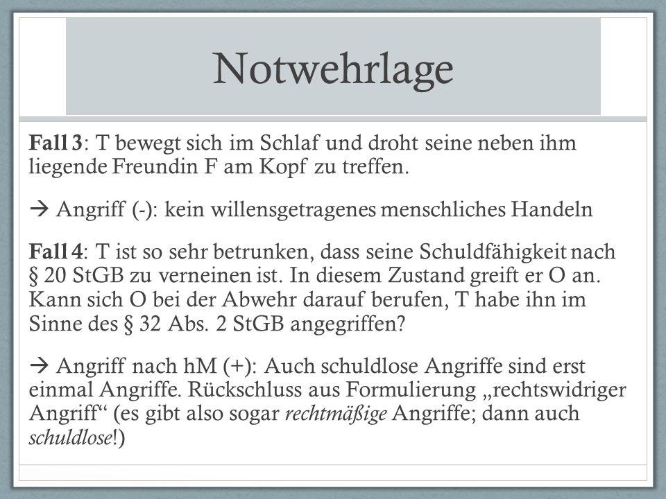 Notwehrhandlung Fall 12 (angelehnt an BGH vom 25.04.2013, Az.: 4 StR 551/12): T ist Mitglied der NPD und möchte mit Gesinnungsgenossen ein Fest feiern.