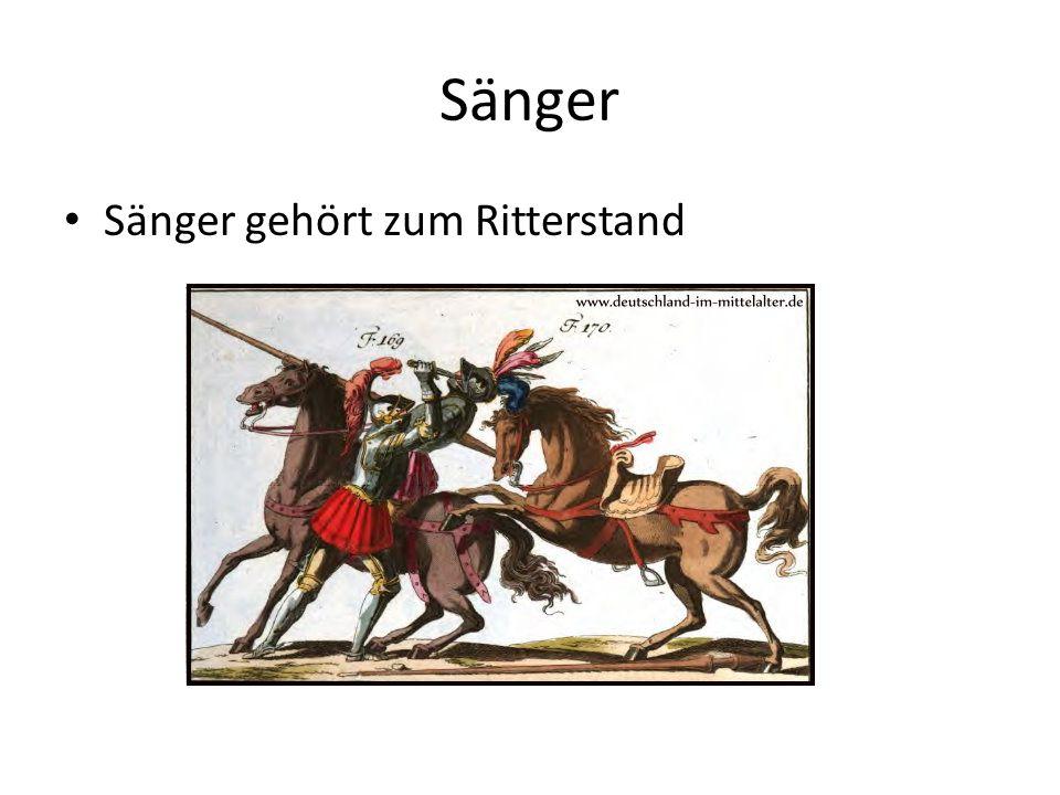 Sänger Sänger gehört zum Ritterstand