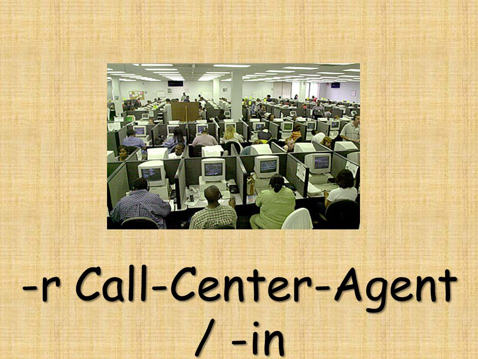 -r Call-Center-Agent / -in