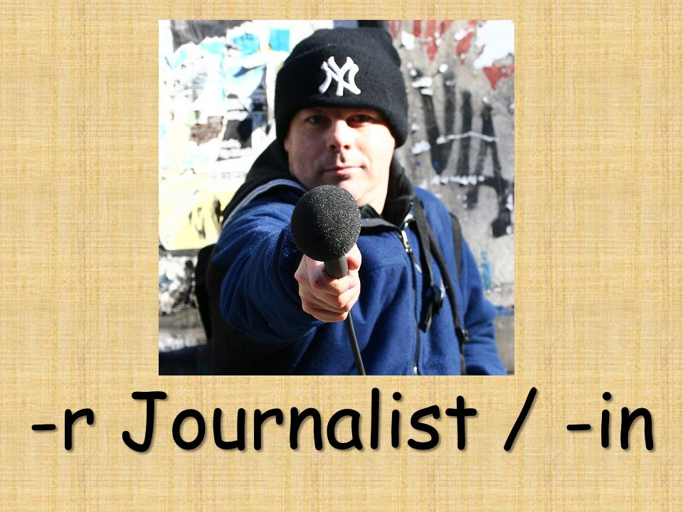 -r Journalist / -in