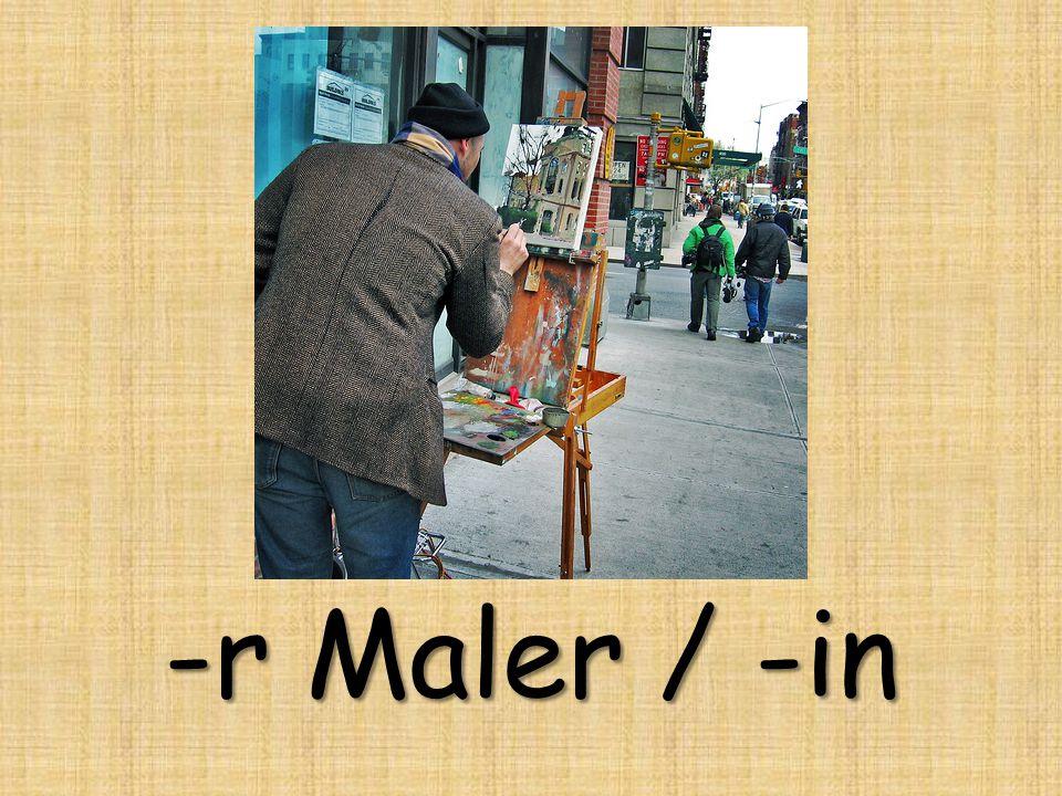 -r Maler / -in