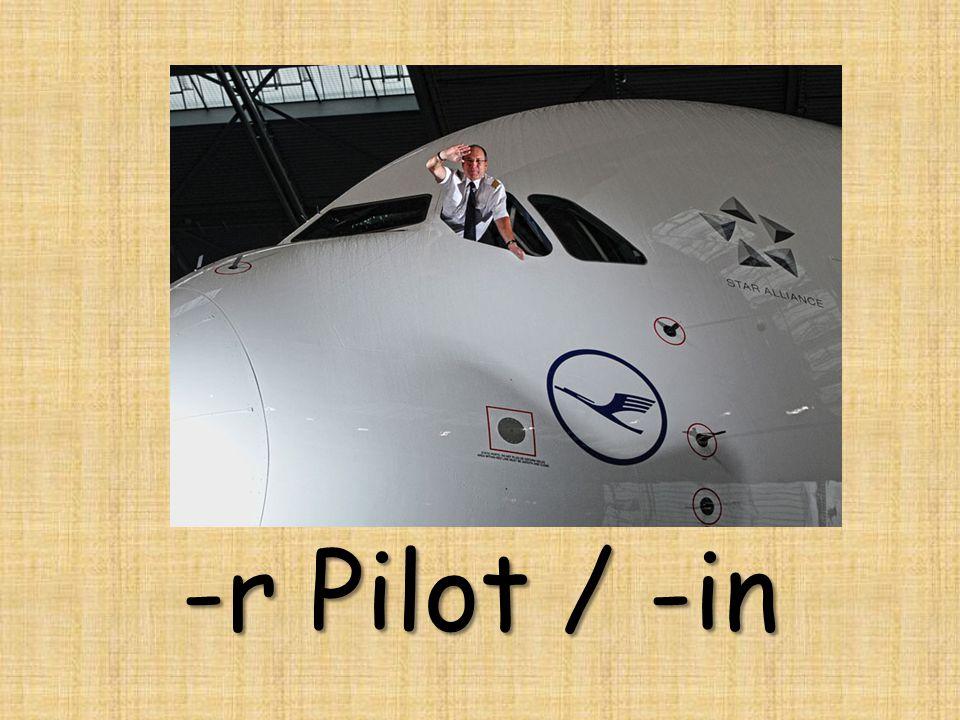 -r Pilot / -in