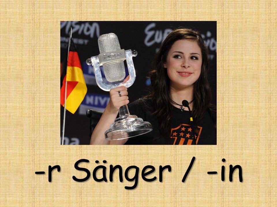 -r Sänger / -in