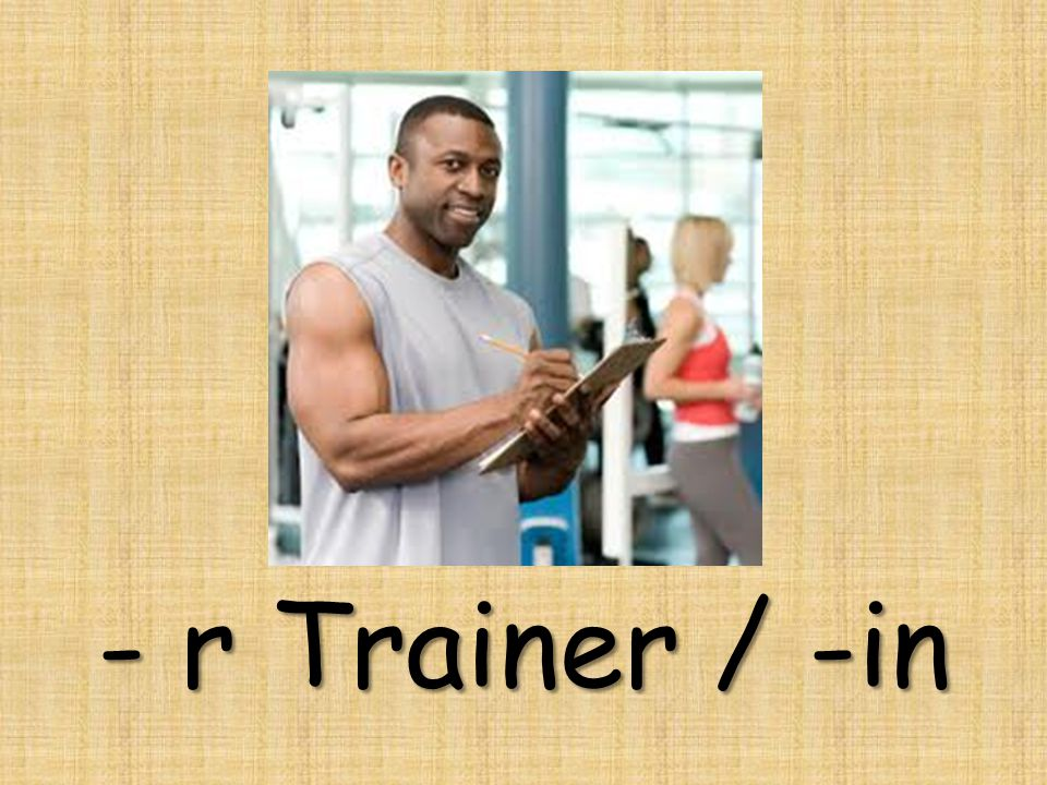 - r Trainer / -in