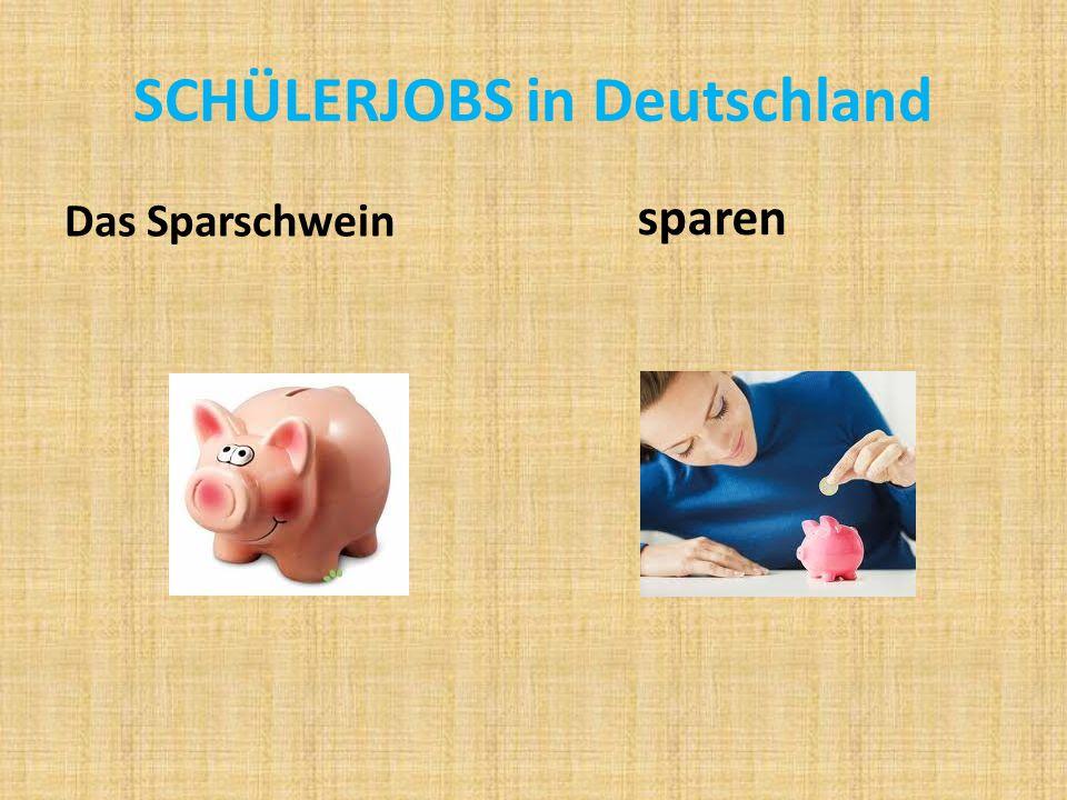 SCHÜLERJOBS in Deutschland Das Sparschwein sparen