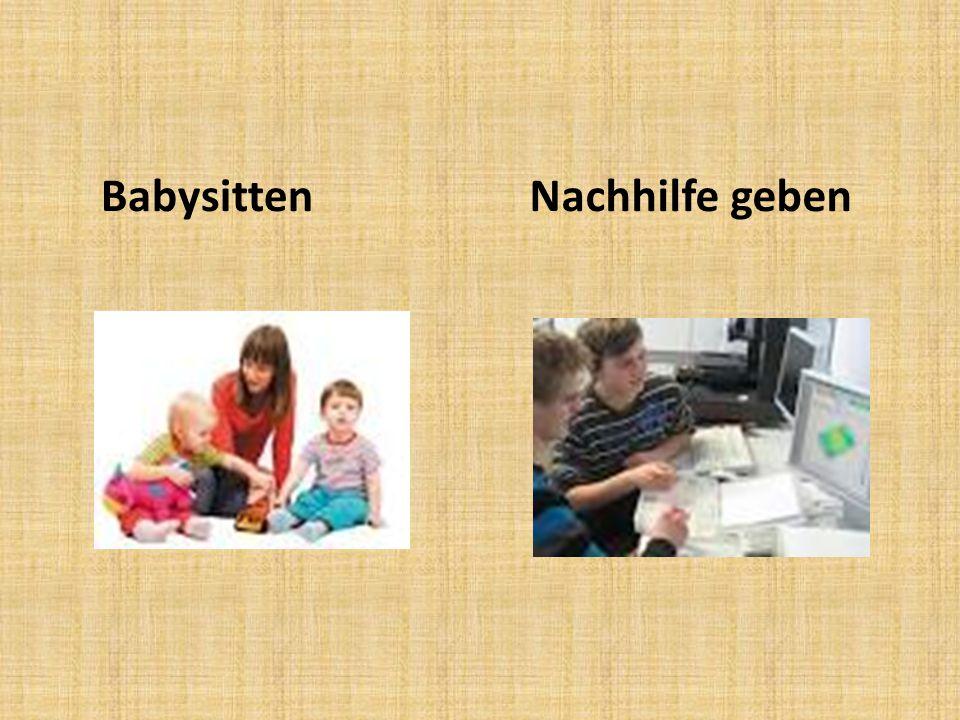 Babysitten Nachhilfe geben