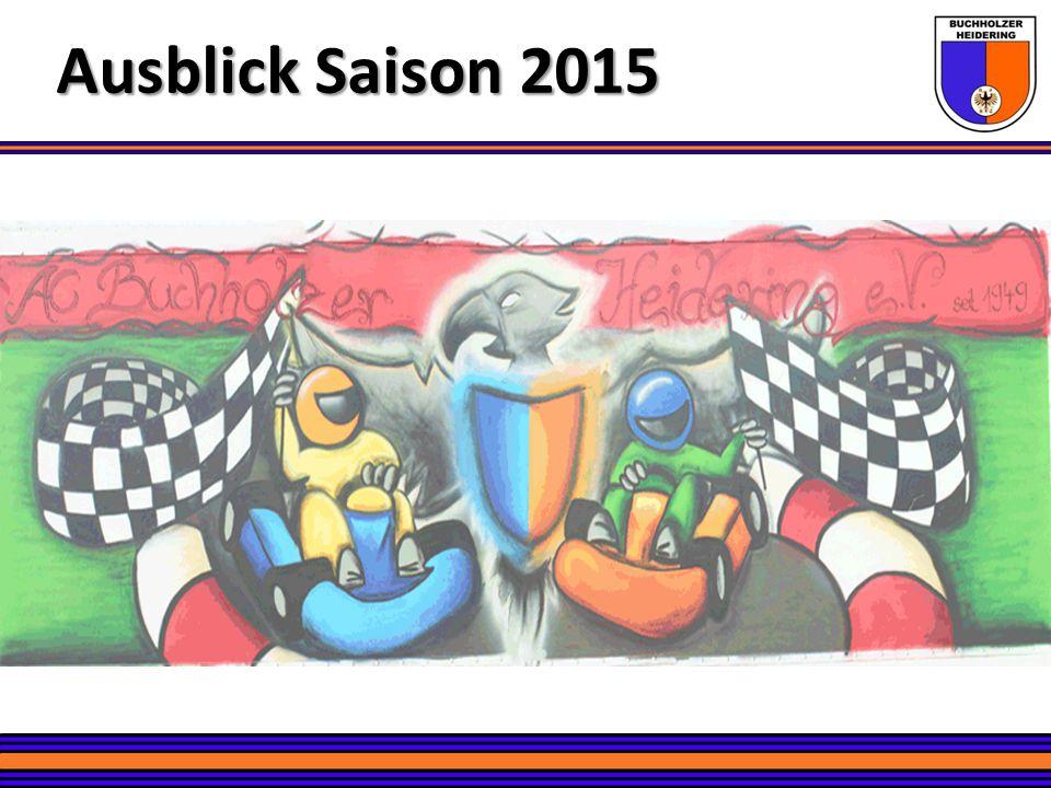 Training – Die Gruppen Ausblick Saison 2015 Kart-Slalom Kart-Slalom 2-3 Wettbewerbsgruppen (Samstags - Edgar, Sergej, Silvio & Andreas) – 22.03.