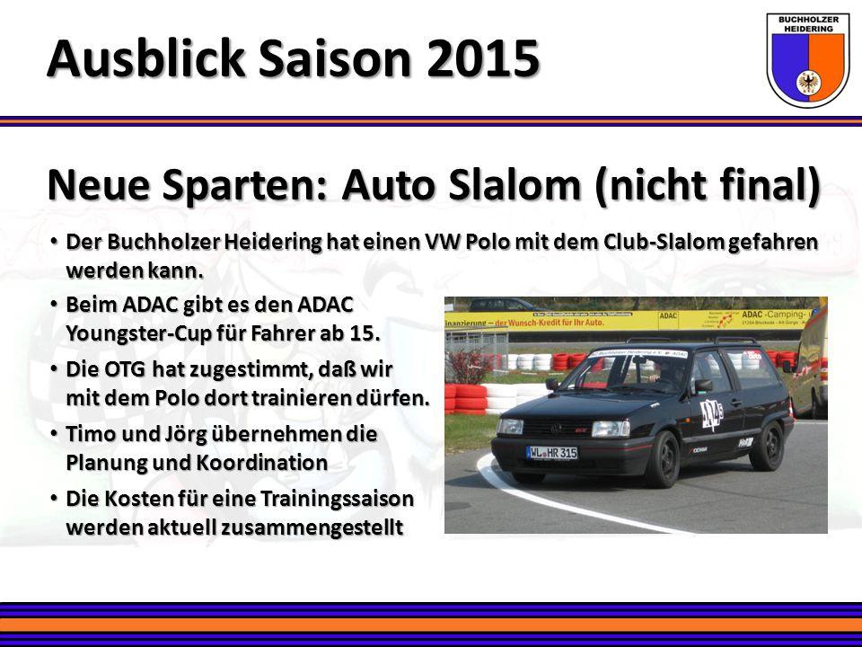Der Buchholzer Heidering hat einen VW Polo mit dem Club-Slalom gefahren werden kann. Der Buchholzer Heidering hat einen VW Polo mit dem Club-Slalom ge