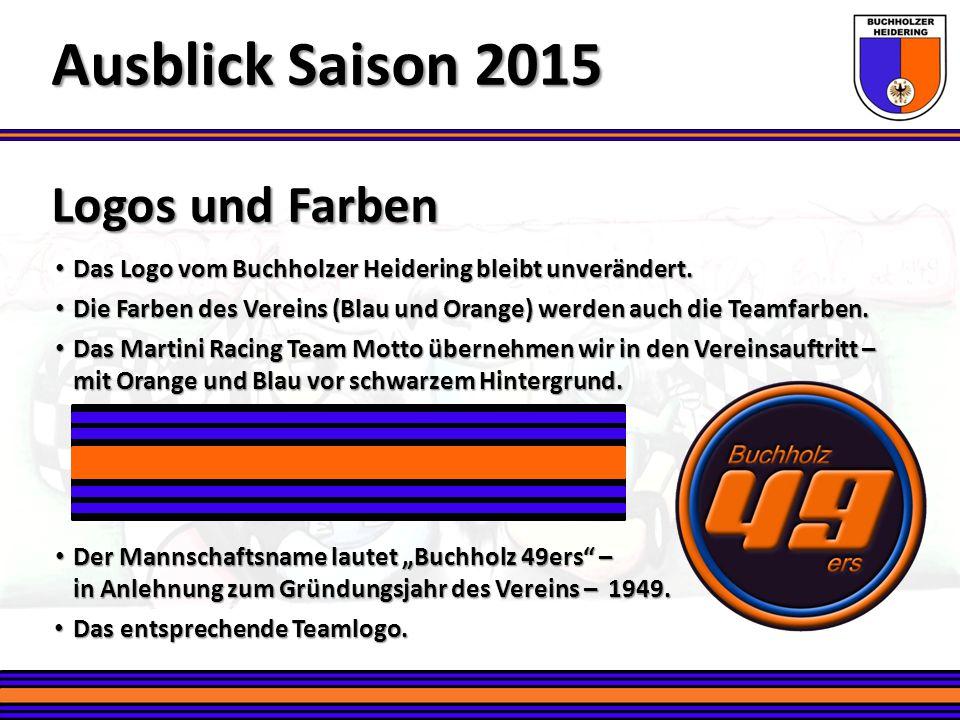 Teamkleidung Ausblick Saison 2015 Ein einheitlicher Auftritt des Vereins – speziell auf Veranstaltungen.