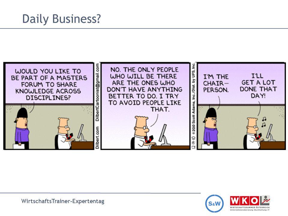 WirtschaftsTrainer-Expertentag Daily Business