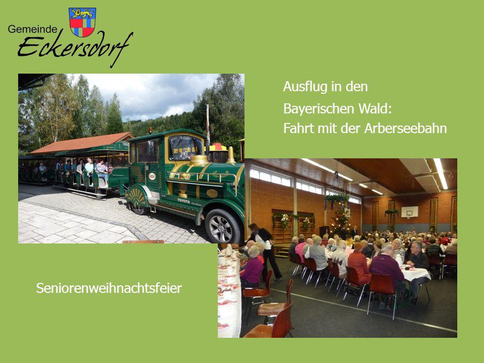 Ausflug in den Bayerischen Wald: Fahrt mit der Arberseebahn Seniorenweihnachtsfeier