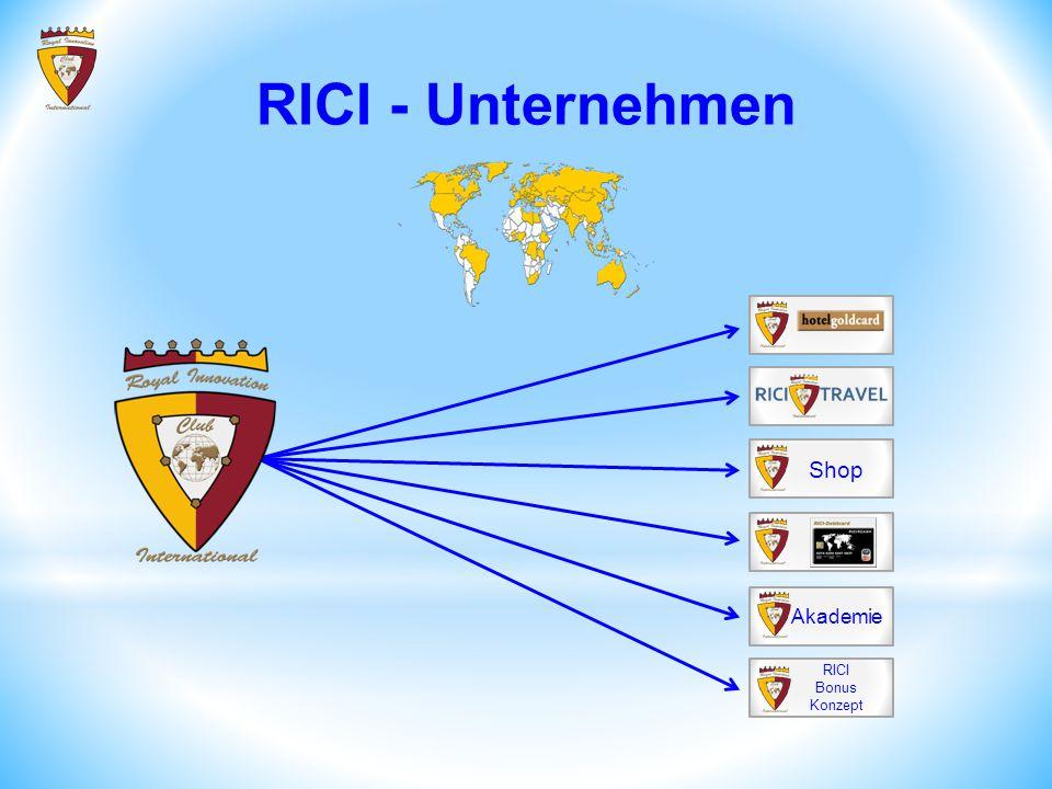 Shop Akademie RICI Bonus Konzept RICI - Unternehmen
