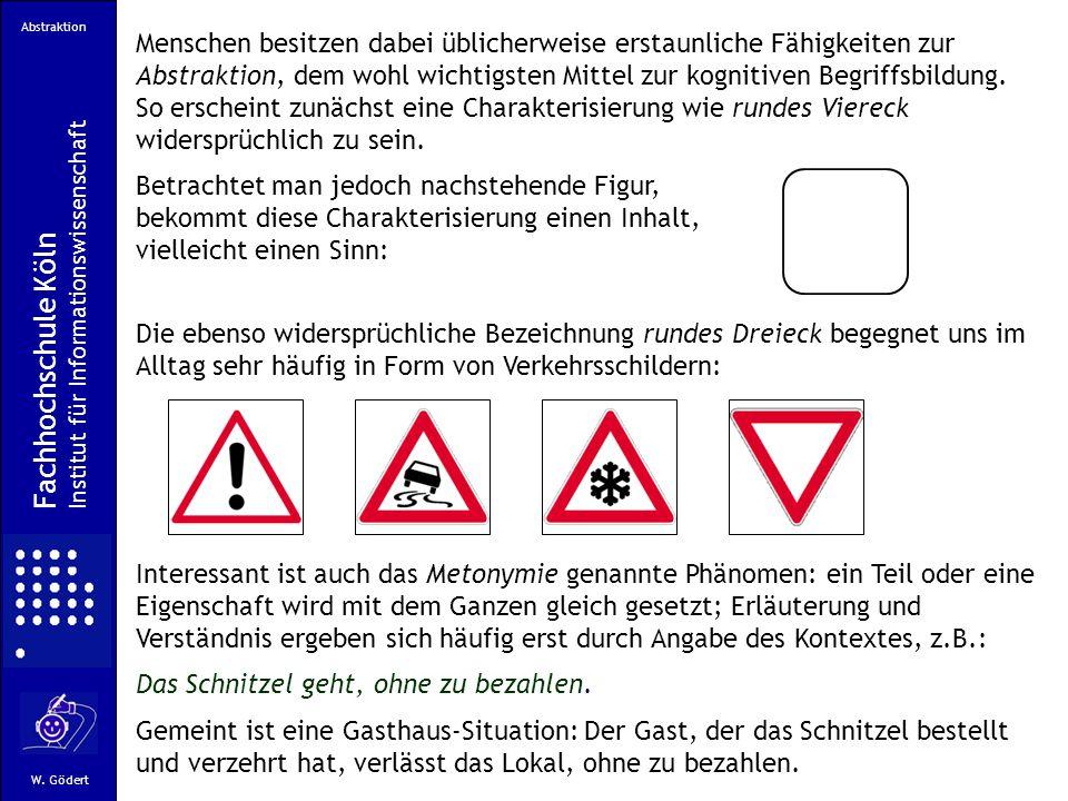 Abstraktion Fachhochschule Köln Institut für Informationswissenschaft W.