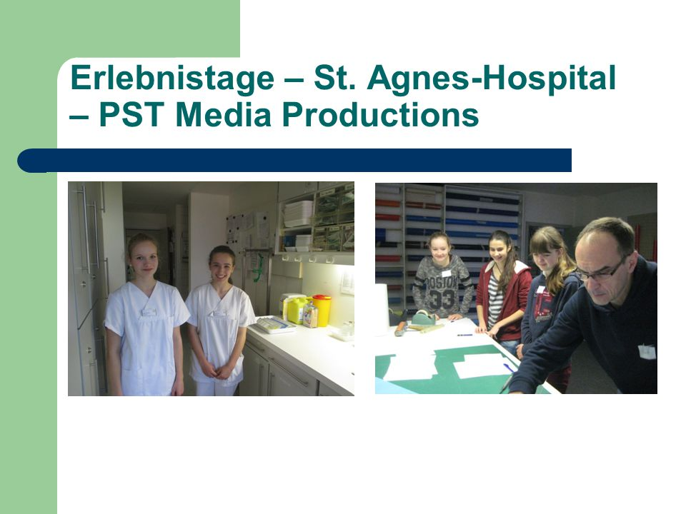Erlebnistage – St. Agnes-Hospital – PST Media Productions