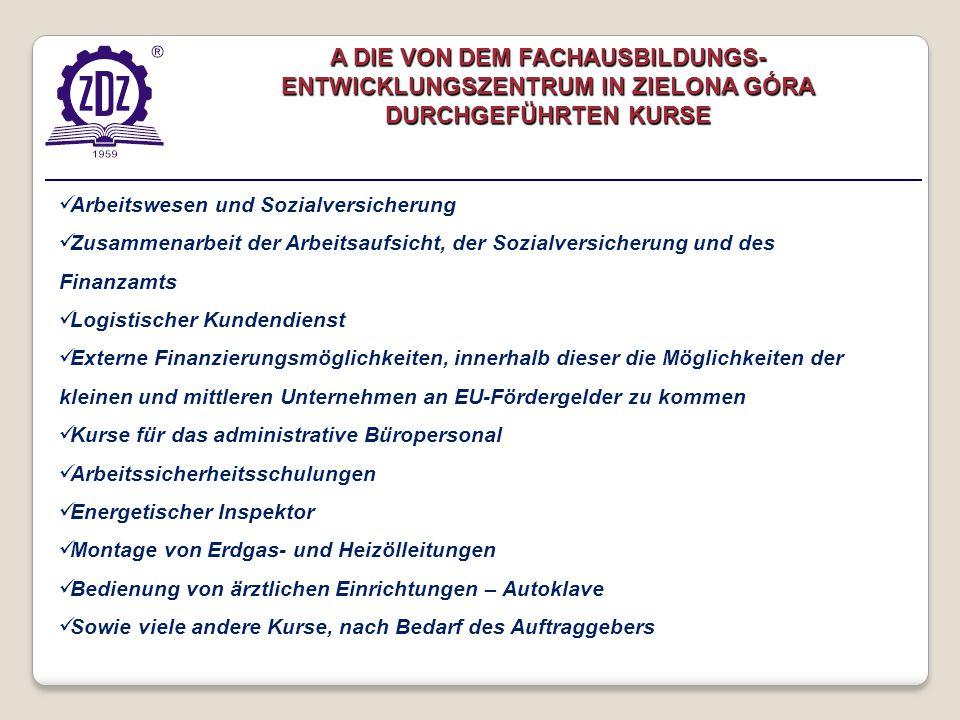 Arbeitswesen und Sozialversicherung Zusammenarbeit der Arbeitsaufsicht, der Sozialversicherung und des Finanzamts Logistischer Kundendienst Externe Fi