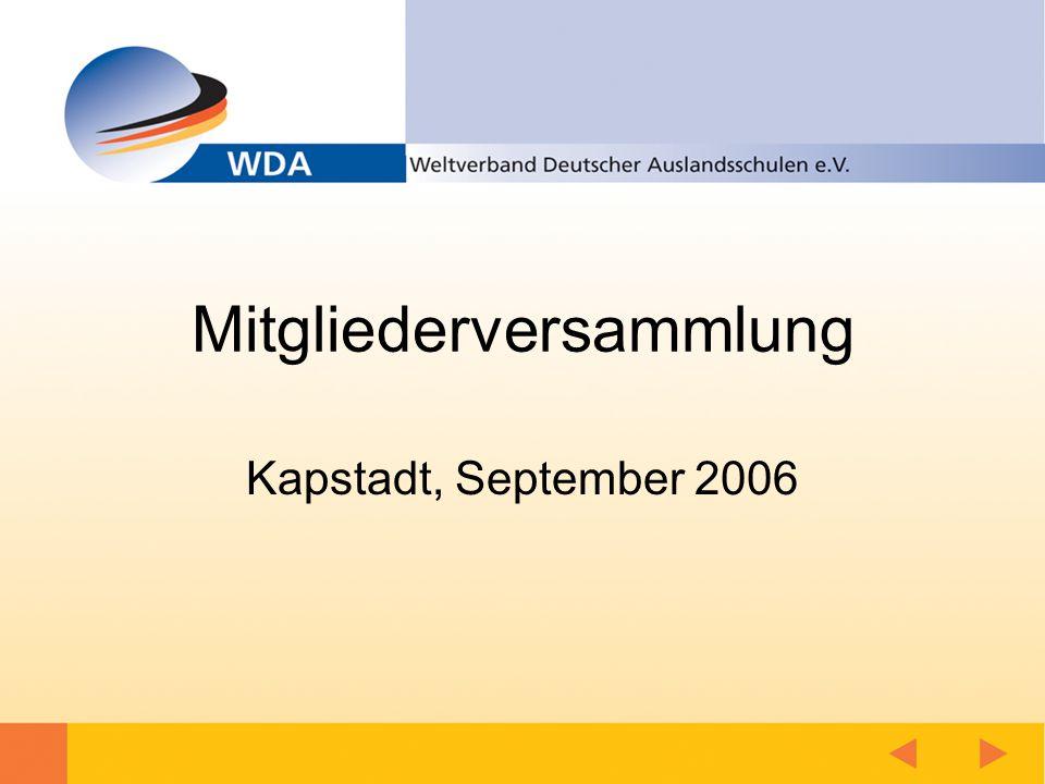 Mitgliederversammlung Kapstadt, September 2006