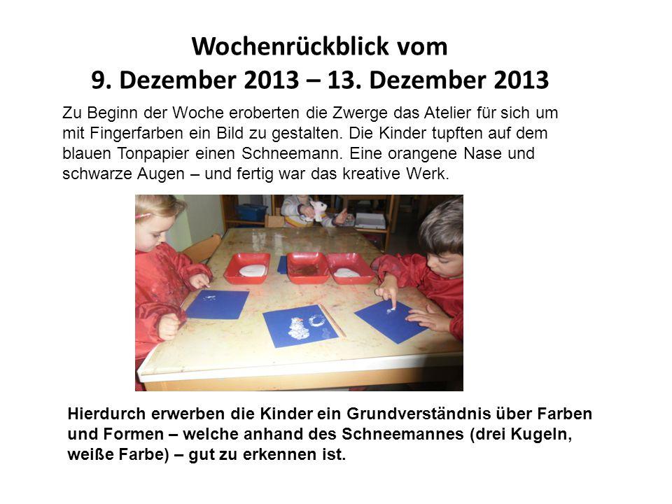 Wochenrückblick vom 9. Dezember 2013 – 13.