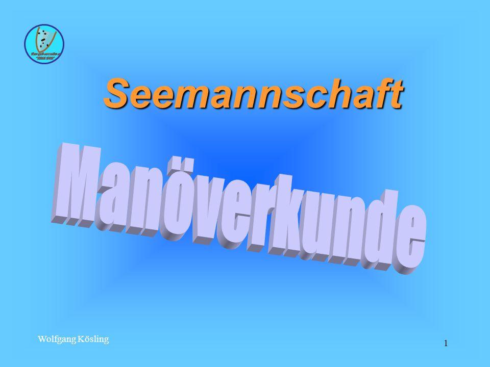 Wolfgang Kösling 32 Derivation Der Derivationswinkel ist abhängig :  der Form des Schiffskörpers;  vom Ruderlagewinkel;  von der Geschwindigkeit;  von der Dauer der Kursänderung.