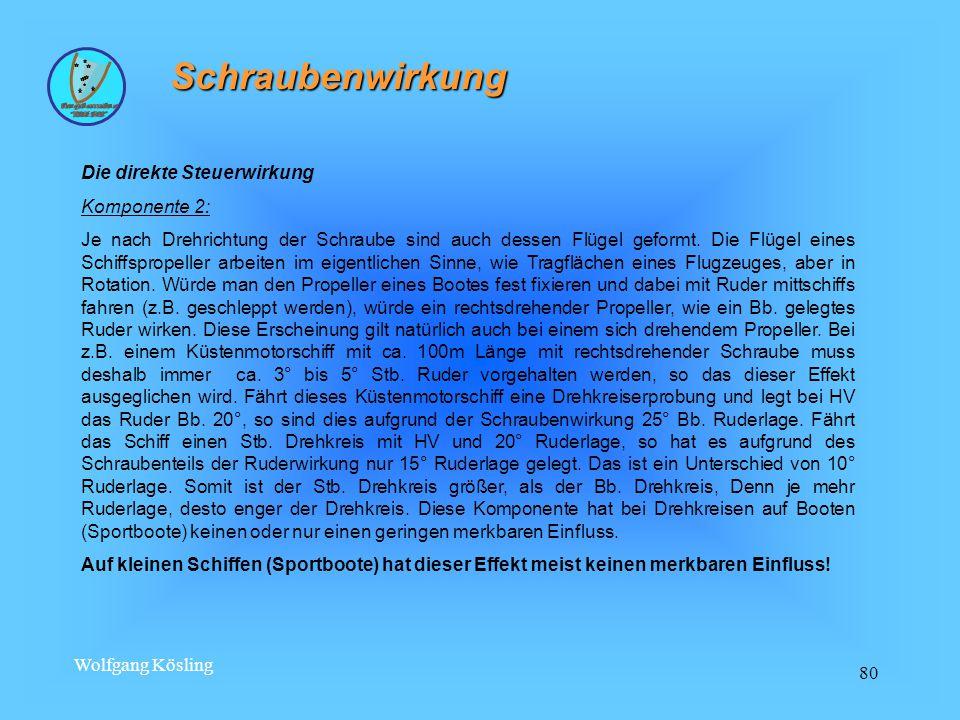 Wolfgang Kösling 80 Schraubenwirkung Die direkte Steuerwirkung Komponente 2: Je nach Drehrichtung der Schraube sind auch dessen Flügel geformt.
