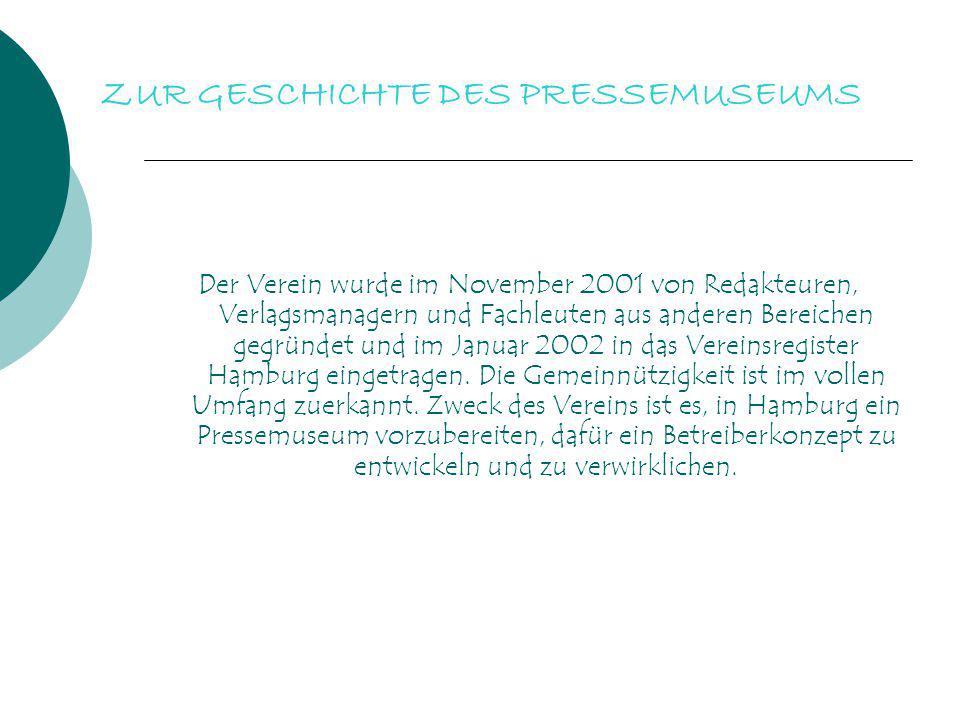 Der Verein wurde im November 2001 von Redakteuren, Verlagsmanagern und Fachleuten aus anderen Bereichen gegründet und im Januar 2002 in das Vereinsreg