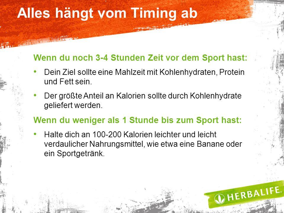 Wenn du noch 3-4 Stunden Zeit vor dem Sport hast: Dein Ziel sollte eine Mahlzeit mit Kohlenhydraten, Protein und Fett sein.