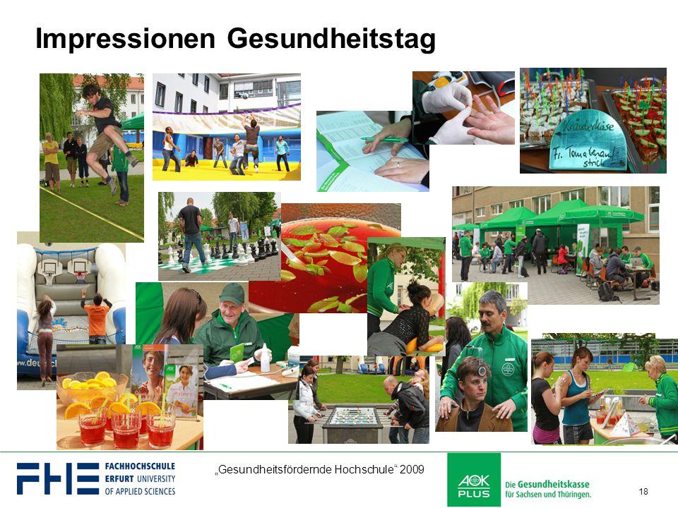 """""""Gesundheitsfördernde Hochschule"""" 2009 18 Impressionen Gesundheitstag"""
