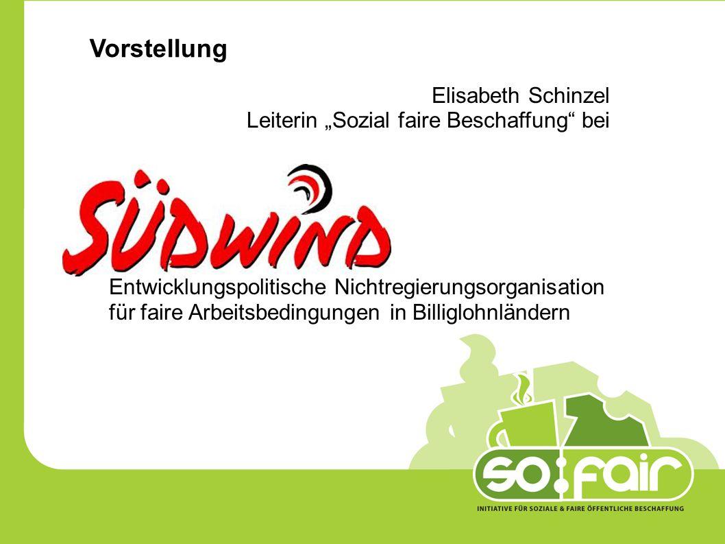 """Vorstellung Elisabeth Schinzel Leiterin """"Sozial faire Beschaffung bei Entwicklungspolitische Nichtregierungsorganisation für faire Arbeitsbedingungen in Billiglohnländern"""