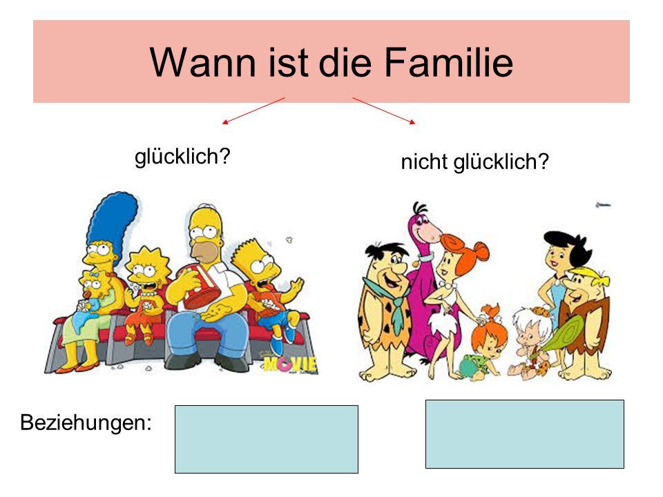 Wann ist die Familie glücklich? nicht glücklich? Beziehungen: