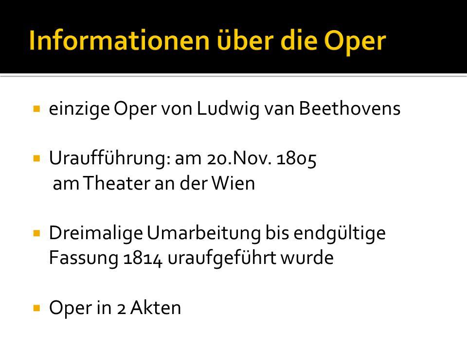  einzige Oper von Ludwig van Beethovens  Uraufführung: am 20.Nov.