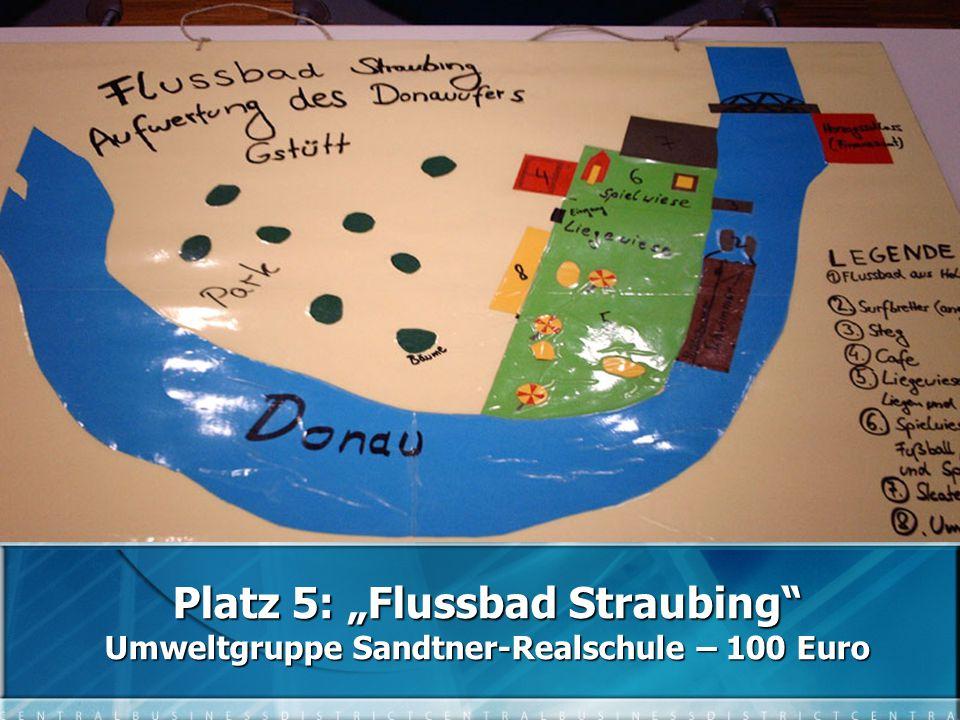"""Platz 5: """"Flussbad Straubing Umweltgruppe Sandtner-Realschule – 100 Euro"""