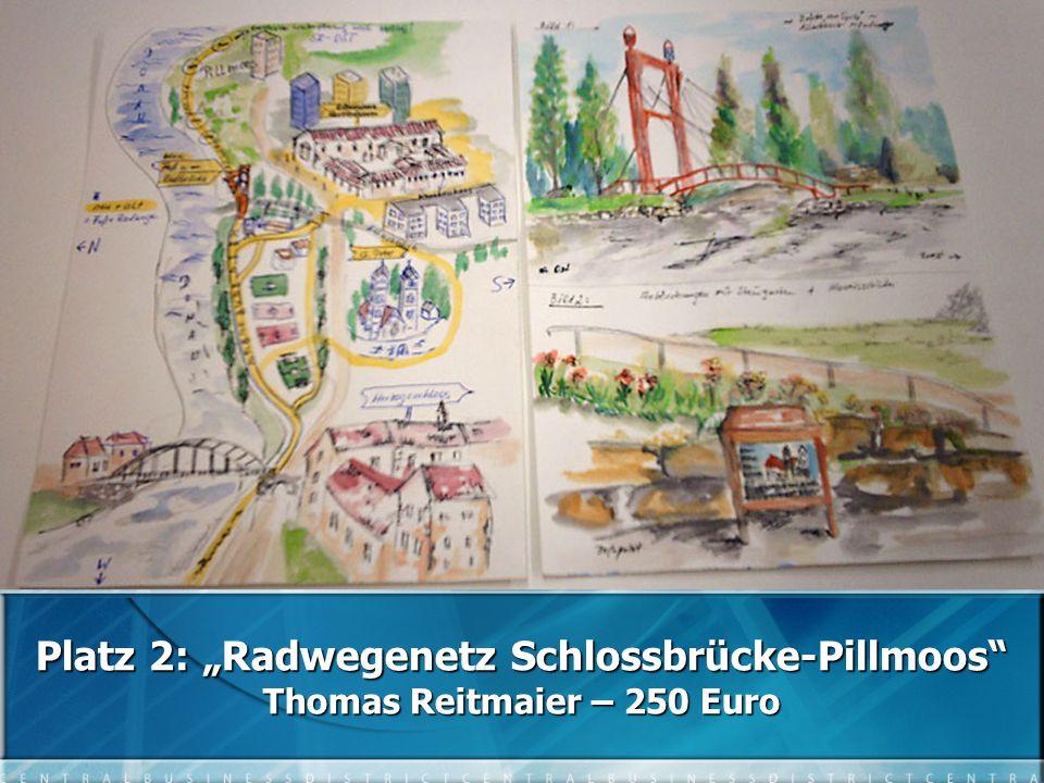 "Platz 2: ""Radwegenetz Schlossbrücke-Pillmoos Thomas Reitmaier – 250 Euro"