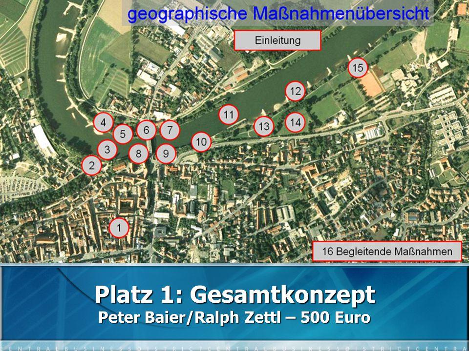 Platz 1: Gesamtkonzept Peter Baier/Ralph Zettl – 500 Euro