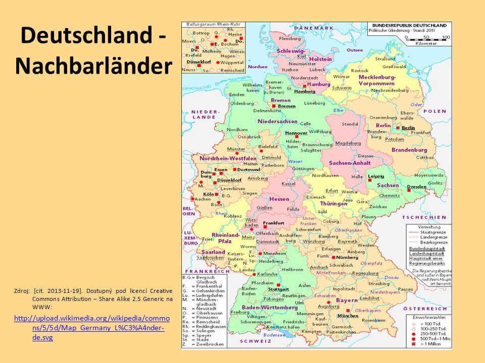 Deutschland - Nachbarländer Zdroj: [cit.2013-11-19].