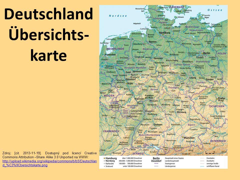 Deutschland Übersichts- karte Zdroj: [cit.2013-11-19].