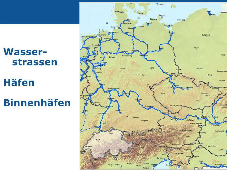 Transport Wasser- strassen Häfen Binnenhäfen